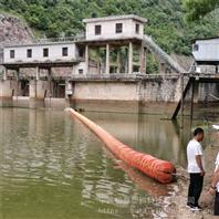 露出水面30公分拦漂浮桶挂网式拦污浮排